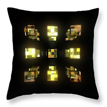 My Cubed Mind - Frame 141 Throw Pillow