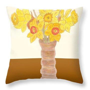 My Daffodils Throw Pillow