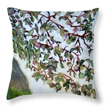 My Daughter's Apple Tree Throw Pillow by Aleezah Selinger