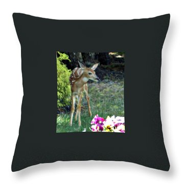 My Deer Friend...... Throw Pillow