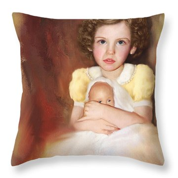 Throw Pillow featuring the photograph My Dolly by Bonnie Willis