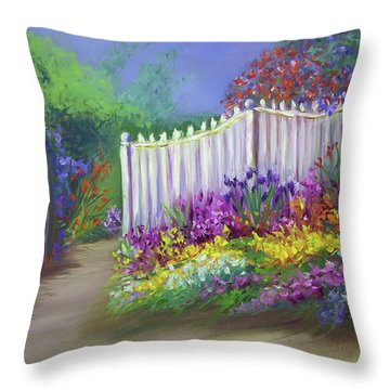 My Dream Garden Throw Pillow