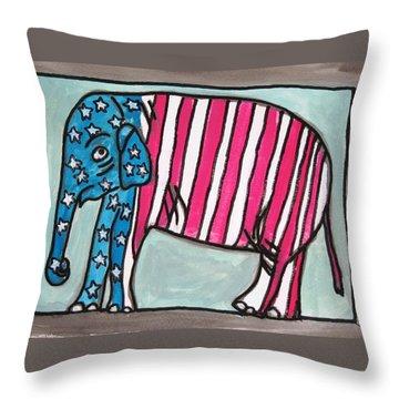 My Elephant Throw Pillow