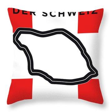 My F1 Bremgarten Race Track Minimal Poster Throw Pillow