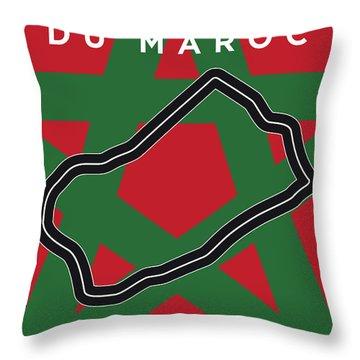 My F1 Casablanca Race Track Minimal Poster Throw Pillow
