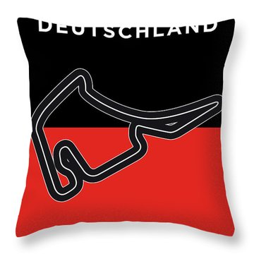 My F1 Germany Race Track Minimal Poster Throw Pillow