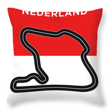 My F1 Zandvoort Race Track Minimal Poster Throw Pillow
