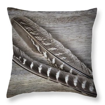 Throw Pillow featuring the photograph My Fabulous Feathery Find. by Karen Stahlros