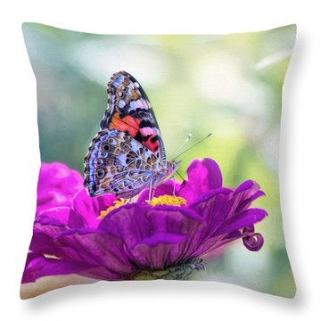 My Fair Painted Lady Throw Pillow