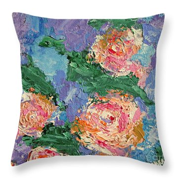 My Father's Roses Throw Pillow