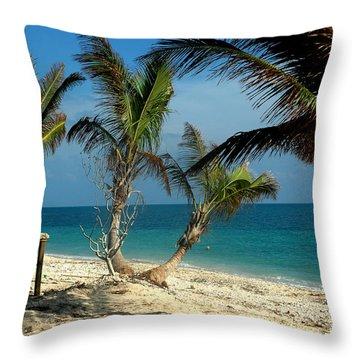 My Favorite Beach Throw Pillow