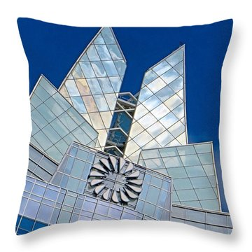 My Favorite #building In #myhometown Throw Pillow by Austin Tuxedo Cat