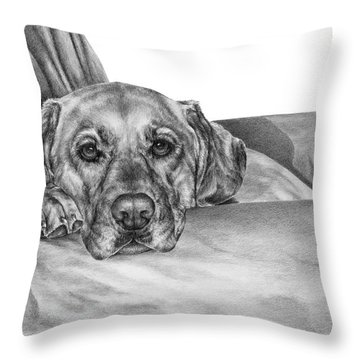My Favorite Chair Throw Pillow