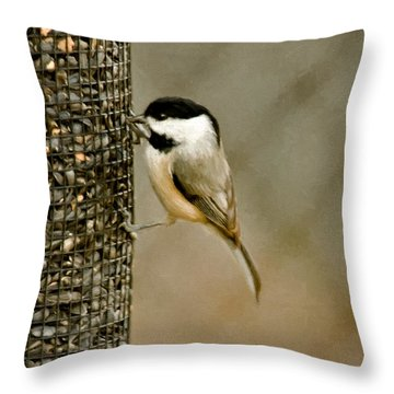 My Favorite Perch Throw Pillow by Lana Trussell