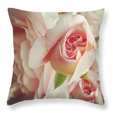 Abraham Darby Throw Pillow