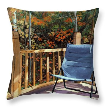My Favorite Spot Throw Pillow by Lynne Reichhart