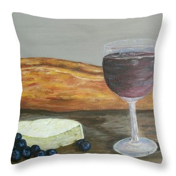 Throw Pillow featuring the painting My Favorite Things by Debbie Baker