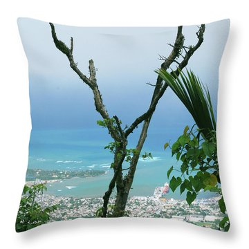 My Favorite Wishbone Between A Mountain And The Beach Throw Pillow by Heather Kirk