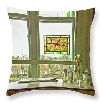 Throw Pillow featuring the photograph My Favourite Cafe by Anne Kotan