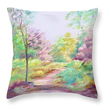Throw Pillow featuring the painting My Favourite Place by Elizabeth Lock