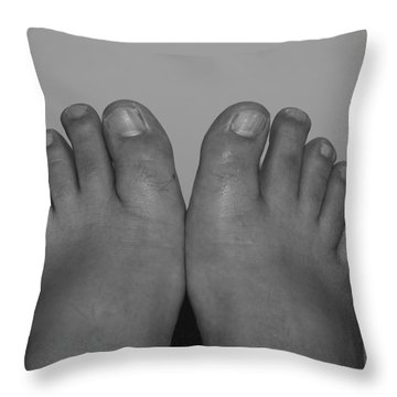 Throw Pillow featuring the photograph My Feet By Hans by Rob Hans