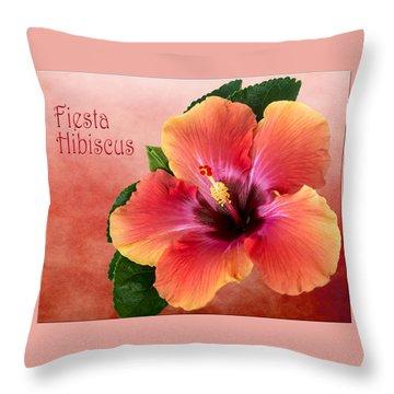 My Fiesta Hibiscus Throw Pillow