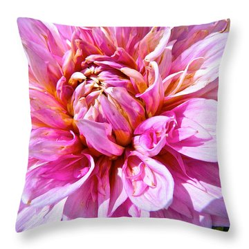 My First Dahlia Throw Pillow