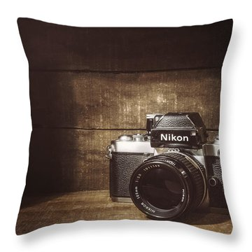 My First Nikon Camera Throw Pillow