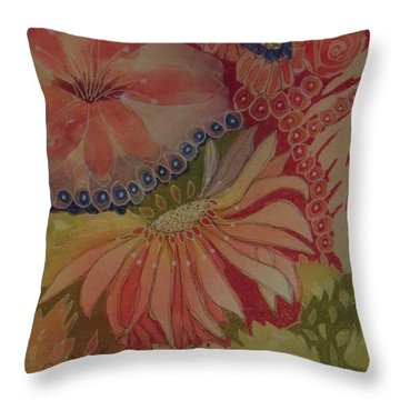 My Flower Garden Throw Pillow