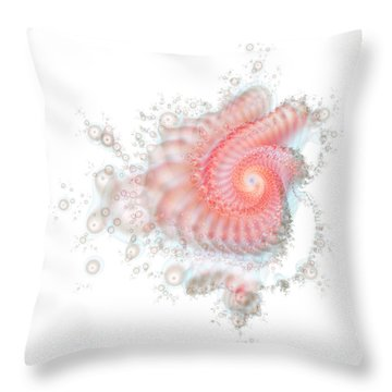 Throw Pillow featuring the digital art My Fractal Heart by Fran Riley