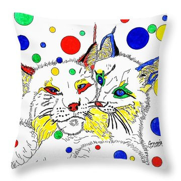 My Friend Throw Pillow by Connie Valasco