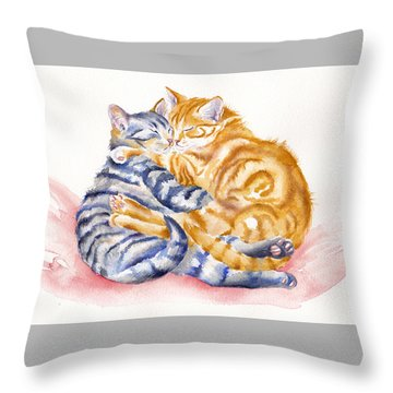 My Furry Valentine Throw Pillow