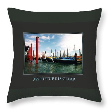 Throw Pillow featuring the photograph My Future Is Clear by Donna Corless