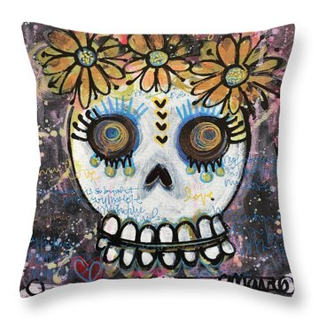 Throw Pillow featuring the painting My Future Is So Bright With You by Laurie Maves ART