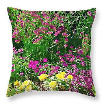 Throw Pillow featuring the photograph My Garden   by Donna Bentley