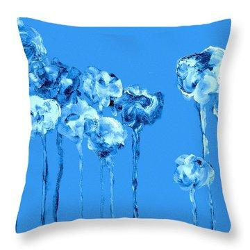My Garden - Blue Throw Pillow