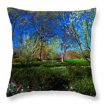 My Garden In Spring Throw Pillow