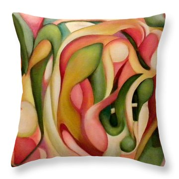My Garden In The Morning Throw Pillow