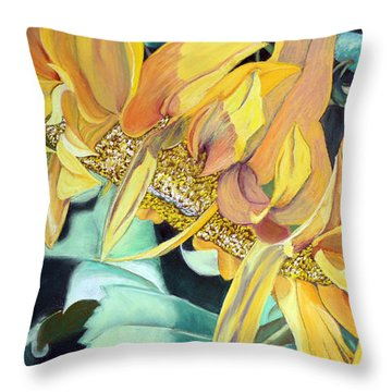 My Garden Throw Pillow by Jane Autry