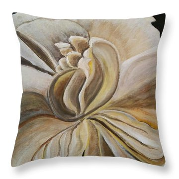 My Gardenia  Throw Pillow