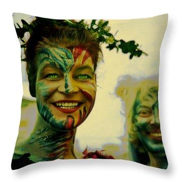 My German Fairies Throw Pillow