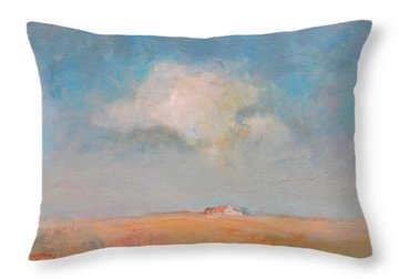 My Getaway Farm Throw Pillow by Ron Wilson