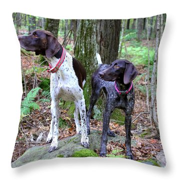 My Girls Throw Pillow