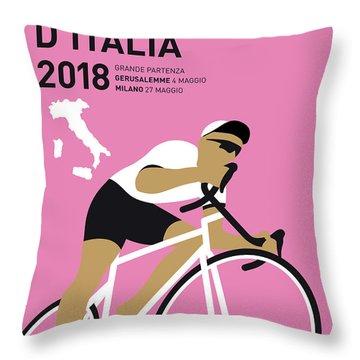 My Giro Ditalia Minimal Poster 2018 Throw Pillow