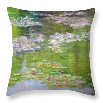 My Giverny Throw Pillow