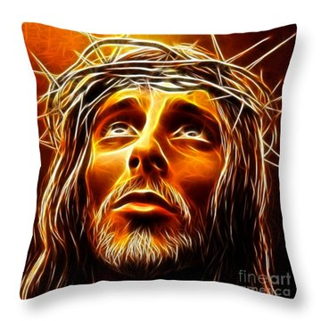 My God  Why Have You Abandoned Me Throw Pillow by Pamela Johnson