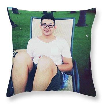 My #gorgeous #boyfriend And His Throw Pillow