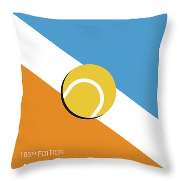 My Grand Slam 01 Australian Open 2017 Minimal Poster Throw Pillow by Chungkong Art