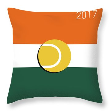 My Grand Slam 02 Rolandgarros 2017 Minimal Poster Throw Pillow by Chungkong Art