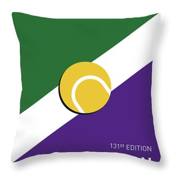 My Grand Slam 03 Wimbeldon Open 2017 Minimal Poster Throw Pillow